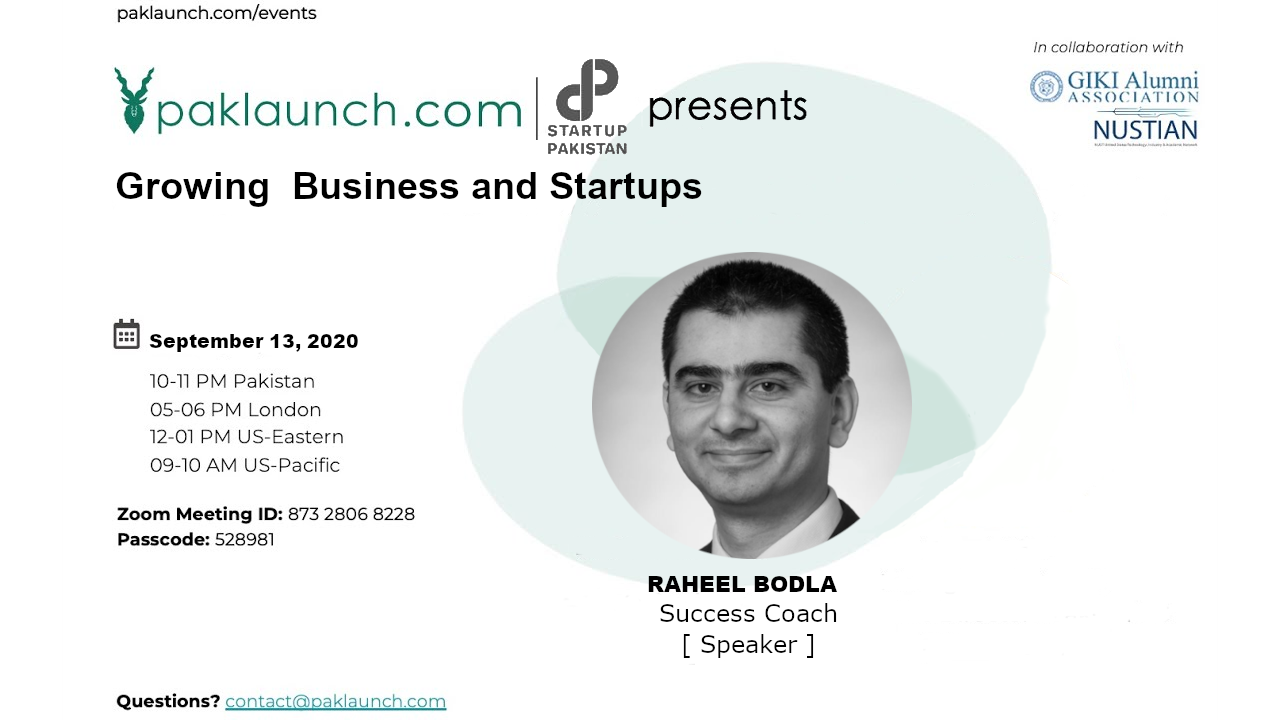 growing business and startups raheel bodla